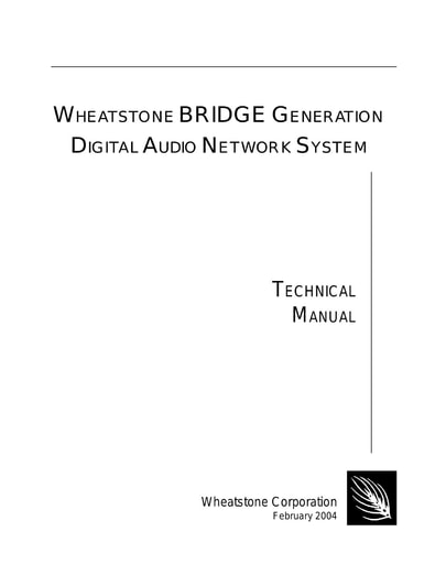 Wheatstone BRIDGE Generation Manual